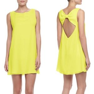 Alice + Olivia Trina Bow Back Tunic Dress US M